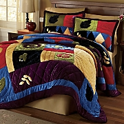 velvet splendor quilt throw and sham