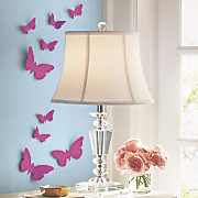 Set of 25 3-D Mirrored Butterfly Stickers