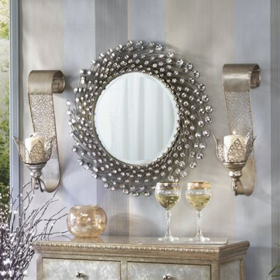 Neptune In Champagne Metal Sconce Set
