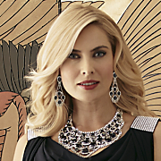crystal glam jewelry bib necklace
