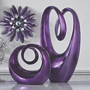 purple sculptures