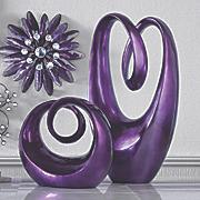purple sculptures