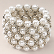 Faux Pearl Stretch Bracelet