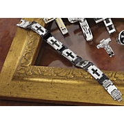 Two Color Cross Bracelet