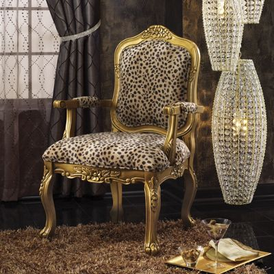 Gold Leopard Chair
