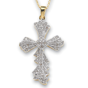 Diamond Cross Pendant 1
