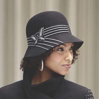 Butterfly Cloche Felt Hat