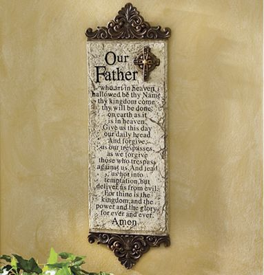 'The Lord's Prayer' Plaque