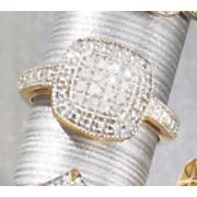 cushion diamond cluster ring