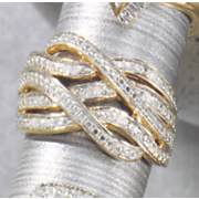 diamond ribbons ring