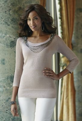 Shantell Beaded Sweater