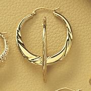 Round Twist Hoop Earrings