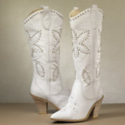 Midnight Velvet Star Flower Boot