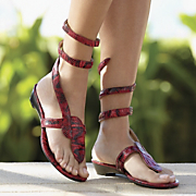 Midnight Velvet Wrap Around Sandal