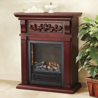 Petite Carved Electric Fireplace