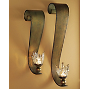 set of 2 ribbon swirl sconces 28