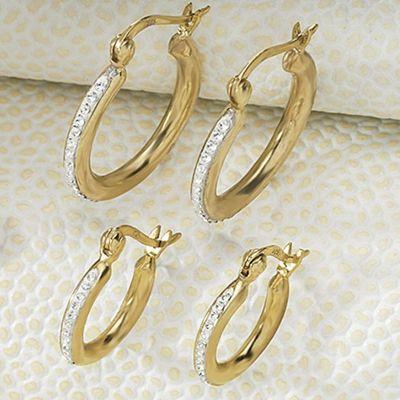 2-Pair Hoop Earring Set
