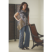 Scroll Sublimation Tunic and Scroll Stud Jean by Midnight Velvet Style