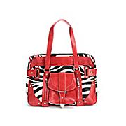 Red Trimmed Zebra Print Handbag by Salsa Style®