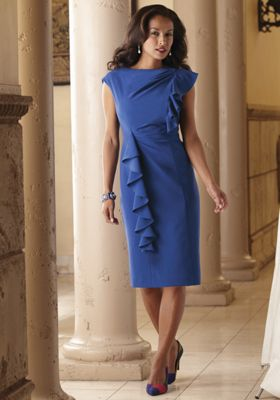 Fiora Ruffle Front Dress