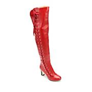Midnight Velvet Side Lace-Up Boot