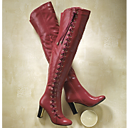 side lace up boot by midnight velvet