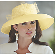 evaline wide brim hat