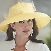 evaline wide brim hat