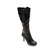 Midnight Velvet Topstitch Apron Boot