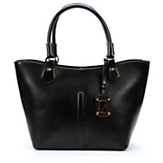 Curved Top Leather Bag by Salsa