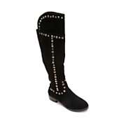 Midnight Velvet Stud Trim Patch Boot