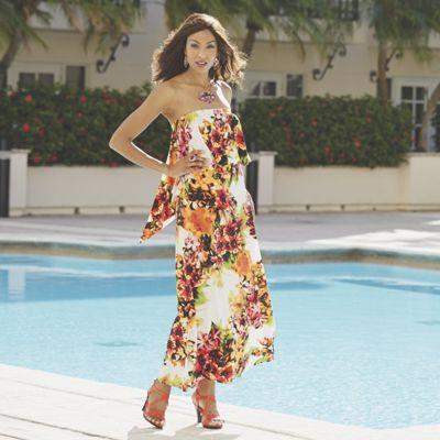 St. Tropez Strapless Maxi Dress