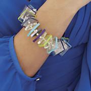 Acrylic Squares Stretch Bracelet
