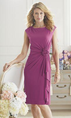 Ruched Rose Dress