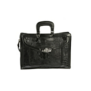 Toulon Embossed Leather Briefcase