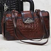 'Toulon' Embossed Leather Handbag