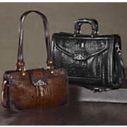 'Toulon' Embossed Leather Briefcase and Handbag