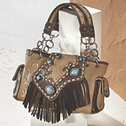 fringed front bag by montana west
