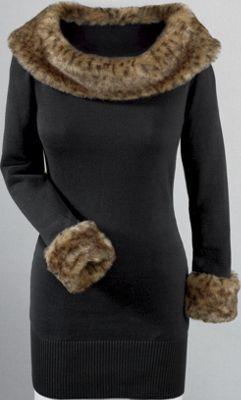 Amari Leopard-trim Sweater