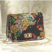 floral turnlock bag