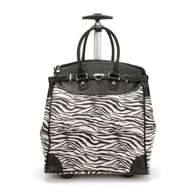 Metallic Zebra Rollbag