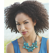 faux turquoise blooms necklace
