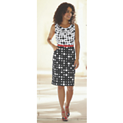 belted polka dot sheath