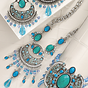 Faux Turquoise and Glass Bead Necklace