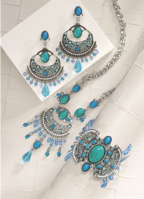 Faux Turquoise and Glass Bead Jewelry