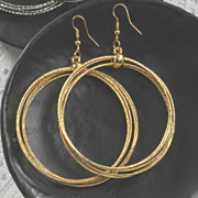 large round wire drop earrings