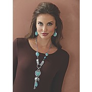 southwest necklace earring set