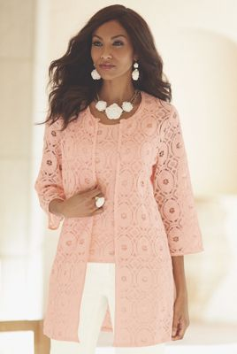 Lace Duster Twinset