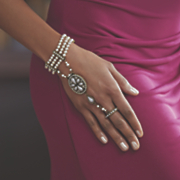faux pearl crystal hand jewelry