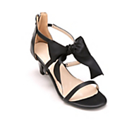 fabric bow ankle strap sandal by midnight velvet